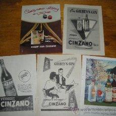 Coleccionismo de carteles: BITTER CINZANO, SODA Y VERMOUT. 12 ANUNCIOS, PUBLICIDAD.. Lote 21243183