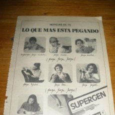 Coleccionismo de carteles: PUBLICIDAD DE PEGAMENTO SUPERGEN. FIRESTONE.. Lote 21264148