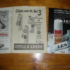 Coleccionismo de carteles: CREMA PARA AFEITAR LEA, RAPIDE Y VARON DANDY.. Lote 21397295