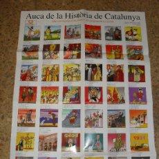 Coleccionismo de carteles: AUCA HISTÒRIA DE CATALUNYA.ÒMNIUM.TEXT JOAN VILAMALA I TERRICABRES.IL·LUSTRACIONS JAUME GUBIANAS. Lote 25584644