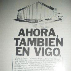 Coleccionismo de carteles: EL CORTE INGLES, 2 ANUNCIOS. VIGO.. Lote 22030241