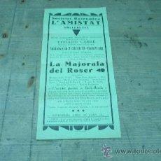 Coleccionismo de carteles: 704.-MOLLERUSA-SOCIETAT RECREATIVA LA AMISTAT. Lote 22509583