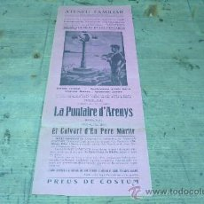 Coleccionismo de carteles: SANT VICENÇS DELS HORTS-ATENEU FAMILIAR. Lote 22509740