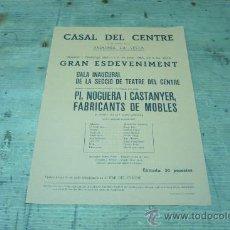 Coleccionismo de carteles: ANDORRA LA VELLA-CASAL DEL CENTRE. Lote 22509805