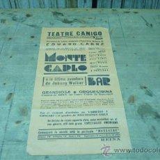 Coleccionismo de carteles: VIC-TEATRE CANIGO. Lote 22510098
