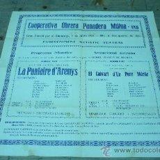 Coleccionismo de carteles: VIC-COOPERATIVA OBRERA PANADERA MUTUA. Lote 22510254