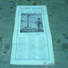 Coleccionismo de carteles: GIRONELLA-CINE IDEAL-LA PUNTAIRE- AGOST DE 1933. Lote 22510753