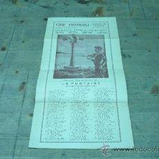 Colecionismo de cartazes: ESPLUGA DE FRANCOLI-CINE FRANCOLI-LA PUNTAIRE-1933. Lote 22510946