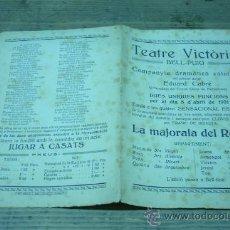 Coleccionismo de carteles: BELL-PUIG- TEATRE VICTORIA-LA MAJORALA DEL ROSER. Lote 22511420