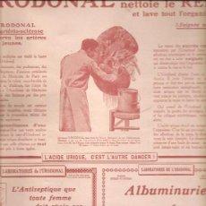 Coleccionismo de carteles: 409. ANUNCIO DE 11 SEPTIEMBRE 1915: MEDICAMENTOS. Lote 23146122