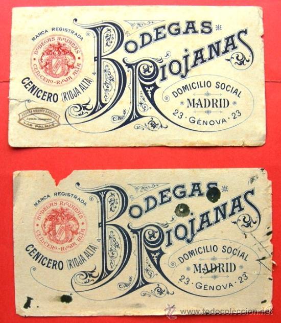 2 carteles publicitarios antiguos de bodegas ri comprar carteles antiguos peque o formato en - Carteles publicitarios antiguos ...