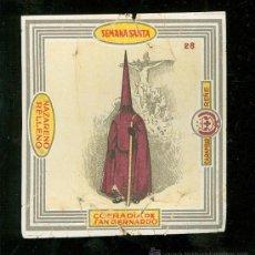 Coleccionismo de carteles: SEMANA SANTA DE SEVILLA. LITOGRAFIA DE ENVOLTURA DE CARAMELOS RENE. COFRADIA DE SAN BERNANDO.. Lote 24913170