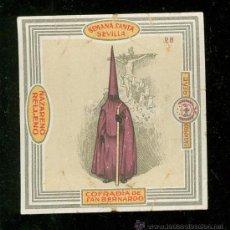Coleccionismo de carteles: SEMANA SANTA DE SEVILLA. LITOGRAFIA DE ENVOLTURA DE CARAMELOS RENE. COFRADIA DE SAN BERNANDO.. Lote 24913175