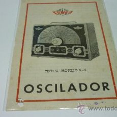 Collezionismo di affissi: ANTIGUO FOLLETO PUBLICITARIO.OSCILADOR E.R.M.S.A. AÑOS 1950S. Lote 25049258