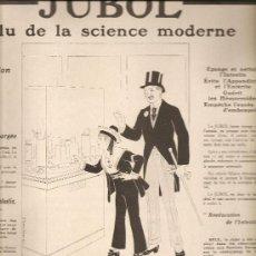 Coleccionismo de carteles: 145. MEDICAMENTOS UTILIZADOS DURANTE LA PRIMERA GUERRA MUNDIAL: JUBOL. Lote 25181870