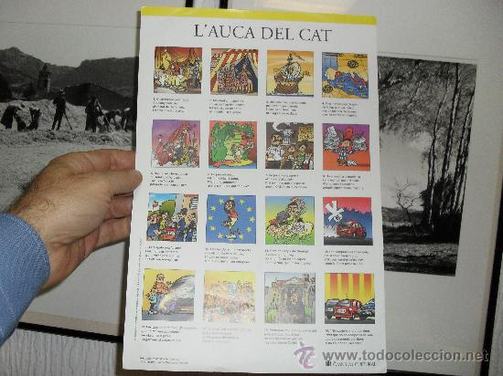 L' AUCA DEL CAT ÒMNIUM CULTURAL 21,5 X 31,5 - VILAMALA - GUBIANAS (Coleccionismo - Carteles Pequeño Formato)