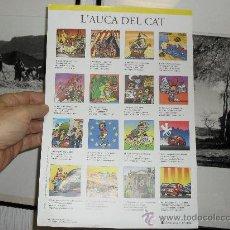 Coleccionismo de carteles: L' AUCA DEL CAT ÒMNIUM CULTURAL 21,5 X 31,5 - VILAMALA - GUBIANAS. Lote 26255173