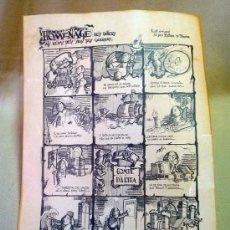 Coleccionismo de carteles: AUCA, FALLA ALMIRANTE CADARSO, CONDE DE ALTEA, A SUS DOS CALLES, SERRA Y PALAO, 1983. Lote 26352205