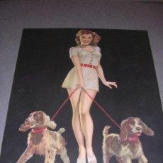 Coleccionismo de carteles: LAMINA PIN UP,AÑIS 50 CARTULINA - 26X21,5 CM. . Lote 26983430