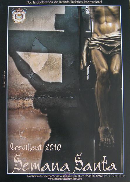 CREVILLENTE- ALICANTE CARTEL SEMANA SANTA 2010 (Coleccionismo - Carteles Pequeño Formato)