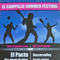 Coleccionismo de carteles: ALICANTE, EL CAMPELLO, SUMMER FESTIVAL CARTEL. Lote 27973748