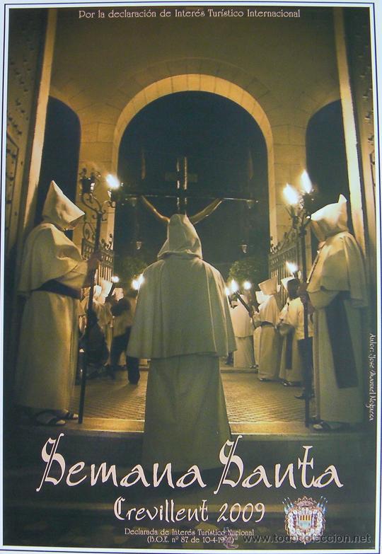 CREVILLENTE, ( ALICANTE ), CARTEL SEMANA SANTA 2009 (Coleccionismo - Carteles Pequeño Formato)