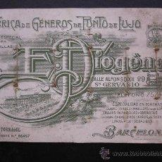 Collectionnisme d'affiches: FABRICA DE GENEROS DE PUNTO DE LUJO, E. DIOGENE - CORBATA TORNASOL - BARCELONA. Lote 27551331