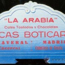 Coleccionismo de carteles: DISPLAY PUBLICITARIO. LA ARABAIA. CAFES TOSTADOS Y CHOCOLATES. LUCAS BOTICARIO. CAÑAVERAL. MADRID.. Lote 27864734