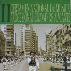 Coleccionismo de carteles: ALICANTE, 2º CERTAMEN NACIONAL DE MÚSICA PROCESIONAL CIUDAD DE ALICANTE, CARTEL 2009. Lote 28031715