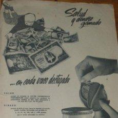 Coleccionismo de carteles: PUBLICIDAD DE LECHE CONDENSADA NOGUEROLES. 2 ANUNCIOS.. Lote 28255695