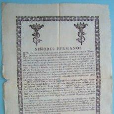 Coleccionismo de carteles: MADRID 1701 * COFRADIA * DEUDORES Y DIFUNTOS DEL AÑO * GRAN FOLIO DE 44 CM X 30 CM. Lote 28625074