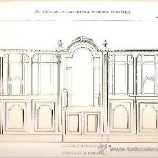 Coleccionismo de carteles: LAMINA CARPINTERIA EPOCA MODERNISTA (ART-NOUVEAU). Lote 29098042