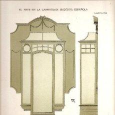 Coleccionismo de carteles: LAMINA CARPINTERIA EPOCA MODERNISTA (ART-NOUVEAU). Lote 29098061