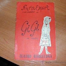 Coleccionismo de carteles: L9882. PROGRAMA TEATRO BARCELONA . NURIA ESPERT, GIGI DE COLETTE. 1959. Lote 29674284