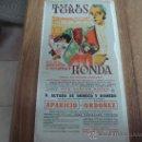 Coleccionismo de carteles: CARTEL TAURINO EN TELA SOBRE CARTON DE LA PLAZA DE TOROS DE RONDA.-CORRIDA GOYESCA.-AÑO 1964.-. Lote 30078264