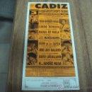 Coleccionismo de carteles: CARTEL TAURINO.-TOROS EN CADIZ.-3 DE ABRIL DE 1993.-TAMAÑO:21X45CTMS.-. Lote 30078733