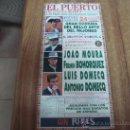 Coleccionismo de carteles: CARTEL DE TOROS.-EN EL PUERTO DE SANTA MARIA.-24 DE AGOSTO DE 1995.-TAMAÑO: 20X44CTMS.-. Lote 30078778