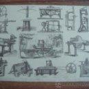 Coleccionismo de carteles: LAMINA CON IMAGENES DE MAQUINARIA ANTIGUA ESPECIFICADA EN DESCRIPCION.-VER FOTO.-TAMAÑO:30X22CTMS.-. Lote 30267884