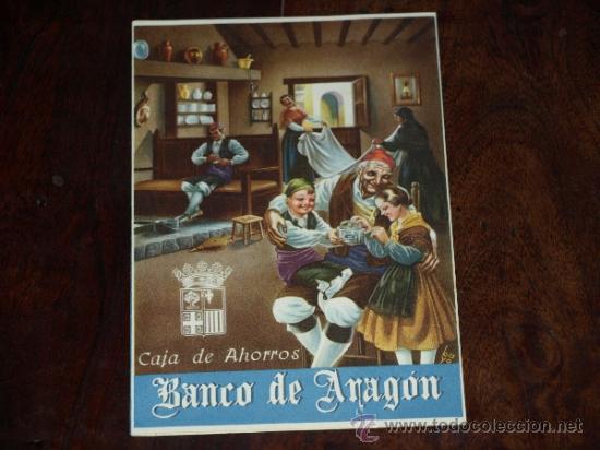 FOLLETO PUBLICIDAD E INFORMACION BANCO DE ARAGON. CAJA DE AHORROS. SITUACION A 30 SEPTIEMBRE 1955. (Coleccionismo - Carteles Pequeño Formato)