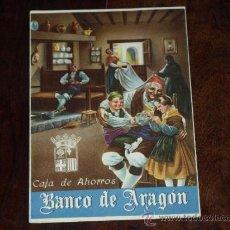 Coleccionismo de carteles: FOLLETO PUBLICIDAD E INFORMACION BANCO DE ARAGON. CAJA DE AHORROS. SITUACION A 30 SEPTIEMBRE 1955.. Lote 30718604