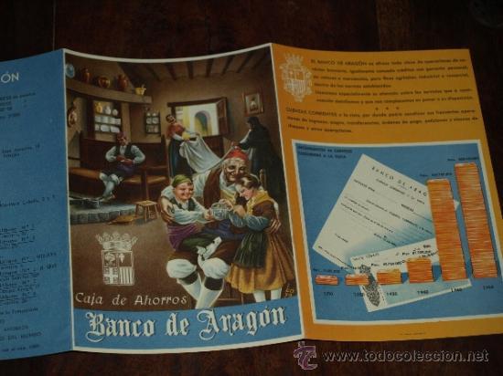Coleccionismo de carteles: FOLLETO PUBLICIDAD E INFORMACION BANCO DE ARAGON. CAJA DE AHORROS. SITUACION A 30 SEPTIEMBRE 1955. - Foto 6 - 30718604