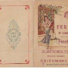 Coleccionismo de carteles: ALMENDRALEJO FERIA DE GANADO DE 1917. Lote 30755250