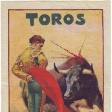 Coleccionismo de carteles: VALENCIA CARTEL CORRIDAS DE TOROS FERIA 1930 LEER. Lote 30789730