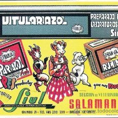 Coleccionismo de carteles: 1951.- ALMANAQUE COMPLETO CON LA PUBLICIDAD DE - LABORATORIOS SIUL - DE SALAMANCA . Lote 30820753