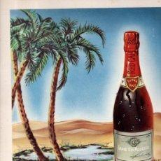 Coleccionismo de carteles: CARTEL PUBLICITARIO CHAUVENET, VINO FRANCÉS, CHAMPAGNE, 24X32CM. Lote 74292173