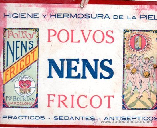 POLVOS NENS FRICOT, HIGIENE Y HERMOSURA DE LA PIEL, 23 POR 17CM (Coleccionismo - Carteles Pequeño Formato)