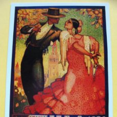 Coleccionismo de carteles: FOTO POSTAL. CARTEL FIESTAS DE PRIMAVERA DE SEVILLA 1928 SEMANA SANTA Y FERIA. 960. . Lote 44929267