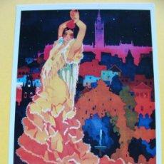 Coleccionismo de carteles: FOTO POSTAL. CARTEL FIESTAS DE PRIMAVERA DE SEVILLA 1933 SEMANA SANTA Y FERIA. 962. . Lote 44929270