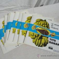 Coleccionismo de carteles: CARTEL PUBLICITARIO - CARAMELOS HELVA. TITO BANANA-. AÑOS 70.. Lote 194888355