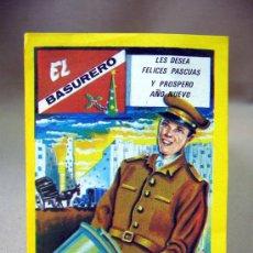 Coleccionismo de carteles: TARJETA PUBLICITARIA, TARJETA FELICITACION, EL BASURERO, FELICES PASCUAS, MORAGON. Lote 31861973